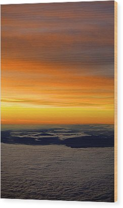 Sunrise View From Plane Wood Print