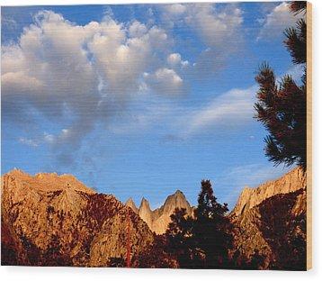 Sunrise Whitney Portal Wood Print