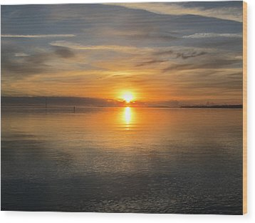 Sunrise With God Wood Print by Joetta Beauford