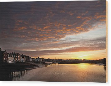 Wood Print featuring the digital art Sunrise Wivenhoe by David Davies