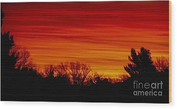Wood Print featuring the photograph Sunrise Y-town by Angela J Wright