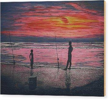 Sunrise.us. Wood Print by Viktor Lazarev