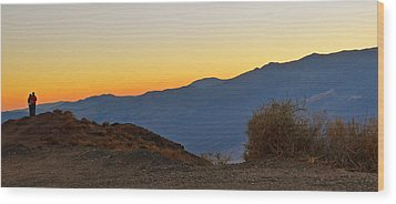 Wood Print featuring the photograph Sunset - Death Valley by Dana Sohr