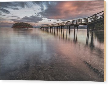 Wood Print featuring the photograph Sunset - Mayne Island by Jacqui Boonstra
