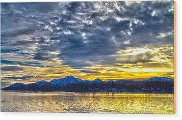 Sunset 001 Wood Print by Timothy Latta