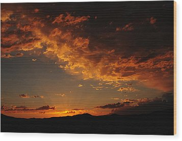 Wood Print featuring the photograph Sunset 0983 by Janis Knight