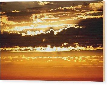 Sunset 2 Wood Print by Ashley Balkan