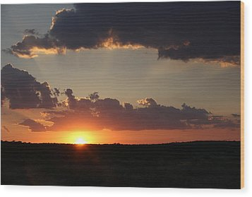 Wood Print featuring the photograph Sunset 2 by Elizabeth Budd