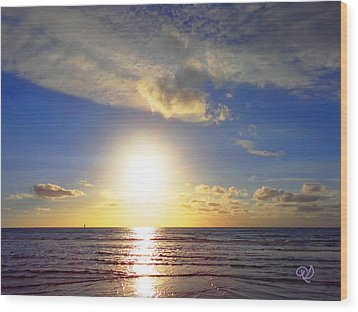 Sunset 2 Wood Print by Ute Posegga-Rudel
