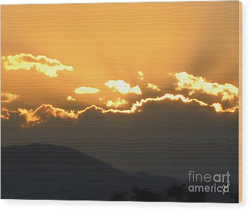 Wood Print featuring the photograph Sunset 3 by Ze  Di