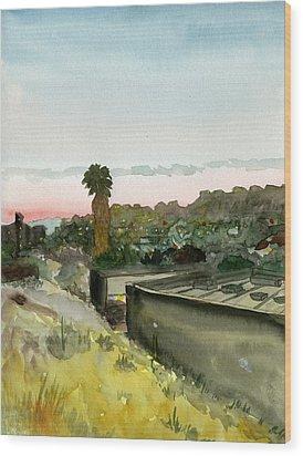 Sunset 25 Lemon Grove Wood Print