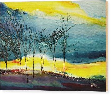 Sunset 3 Wood Print by Anil Nene