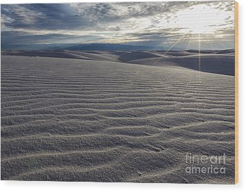 Sunset 3 - White Sands Wood Print by Scotts Scapes