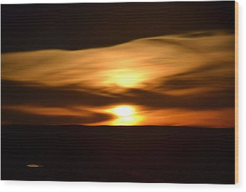 Wood Print featuring the photograph Sunset Abstract I by Nadalyn Larsen