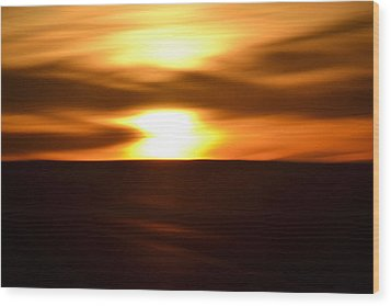 Wood Print featuring the photograph Sunset Abstract II by Nadalyn Larsen