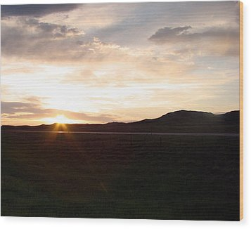 Wood Print featuring the photograph Sunset Across I 90 by Cathy Anderson