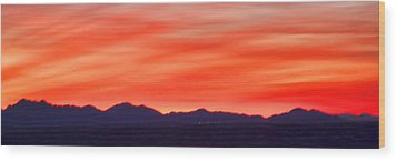 Wood Print featuring the photograph Sunset Algodones Dunes by Hugh Smith