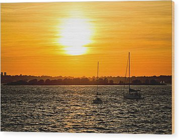 Sunset  Wood Print by Allan Millora Photography