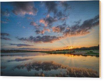 Sunset Along The Brushy Wood Print by Jeffrey W Spencer