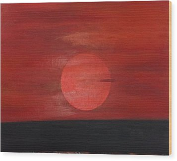 Sunset Wood Print by Andrea Friedell