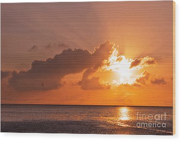 Sunset Wood Print by Angela Doelling AD DESIGN Photo and PhotoArt