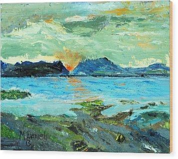 Sunset At Bic Wood Print by Michael Daniels