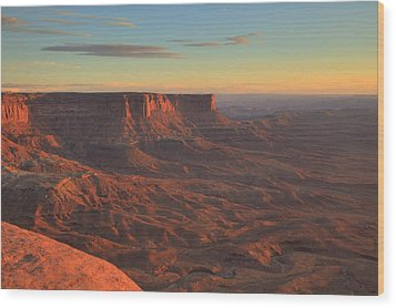Wood Print featuring the photograph Sunset At Canyonlands by Alan Vance Ley