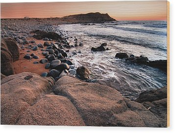 Wood Print featuring the photograph Sunset At Capo Pecora - Sardinia by Laura Melis