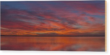 Wood Print featuring the photograph Sunset At Cheyenne Bottoms 1 by Rob Graham
