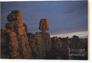 Wood Print featuring the photograph Sunset At Chiricahua by Keith Kapple