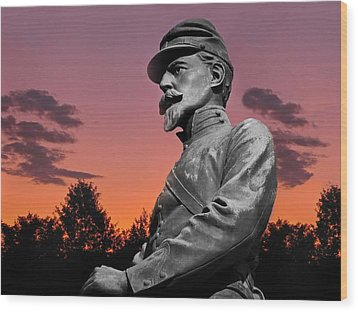 Sunset At Gettysburg  Wood Print by David Dehner
