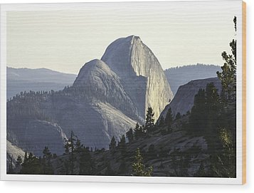 Sunset At Half Dome From Olmsted Pt Wood Print