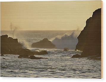 Sunset At Half Moon Bay Wood Print