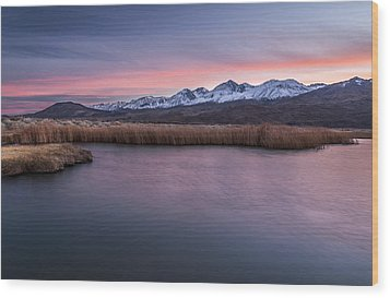 Sunset At Klondike Lake Wood Print by Cat Connor