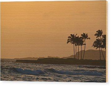 Sunset At Koloa Wood Print