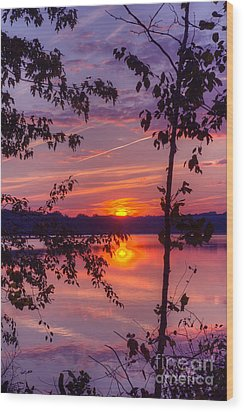 Sunset At Loch Raven Wood Print by ELDavis Photography