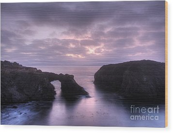 Sunset At Mendocino Wood Print by Bob Christopher