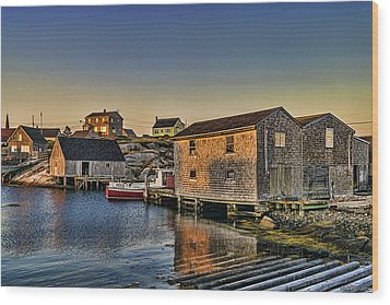 Sunset At Peggy's Cove IIi Wood Print