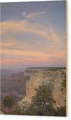 Wood Print featuring the photograph Sunset At Powell Point by Alan Vance Ley