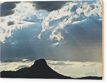 Sunset At Prescott Sun 134 Wood Print by G L Sarti