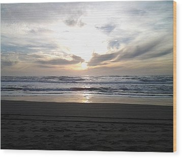 Sunset At San Gregorio Wood Print