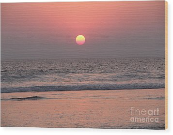 Sunset At San Juan De Alima Wood Print by Linda Queally