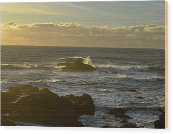 Sunset At Santa Cruz Wood Print
