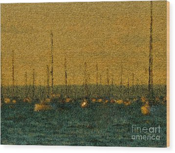 Sunset At Sea Cliff Wood Print by Jeff Breiman