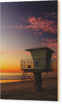Sunset At South Carlsbad State Park Wood Print by Eric Foltz