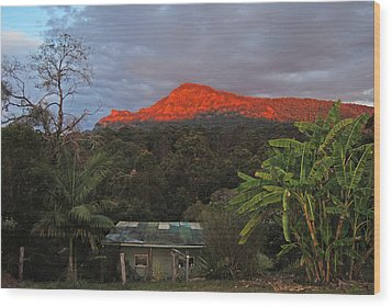 Wood Print featuring the photograph Sunset At Sphinx Rock by Ankya Klay