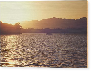 Wood Print featuring the photograph Sunset At Summer Palace by Yew Kwang