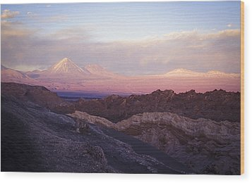 Wood Print featuring the photograph Sunset At The Valley Of The Moon by Lana Enderle