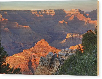 Wood Print featuring the photograph Sunset At Yaki Point by Alan Vance Ley