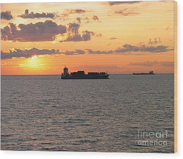 Wood Print featuring the photograph Sunset Baltic Sea by Art Photography